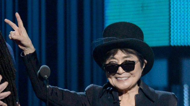 Yoko Ono at this year's Grammy Awards