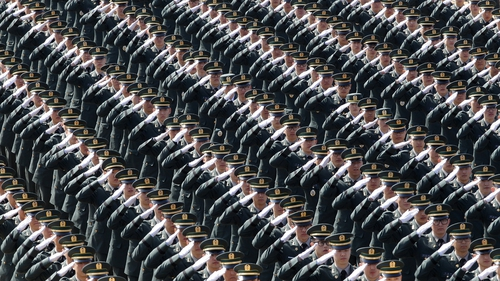New South Korean military officers attend a commissioning ceremony at Gyeryongdae, South Korea's main military compound