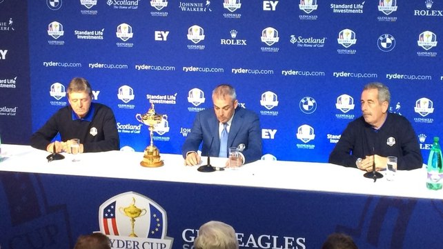 Paul McGinley (centre) said Des Smyth (left) and Sam Torrance were the first two people he had in mind for the roles