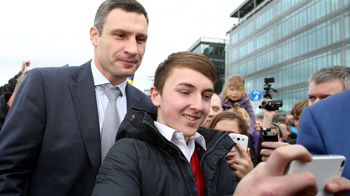 Former world boxing champion Vitaly Klitschko is in Dublin for the EPP conference