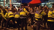Clashes between gardaí and a number of anti-austerity protesters outside the venue