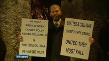 Protest takes place outside Mullingar Garda station