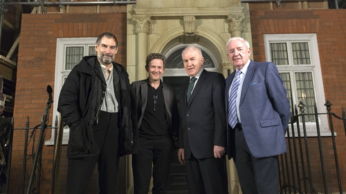 Penny Dreadful creator John Logan and star Timothy Dalton welcomed Minister for Arts, Heritage and the Gaeltacht Jimmy Deenihan and Bord Scannán na hÉireann/Irish Film Board Chairman Bill O'Herlihy to the show's set at Ardmore Studios in Co Wicklow on Thu