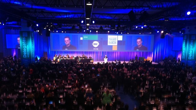 Bono addressed the conference this afternoon
