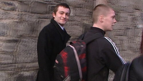 Tadhg Costello (in black coat) admitted that he carried a knife at all times