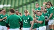The Ireland team gave Brian O'Driscoll an impromptu guard of honour at the Captain's Run on Friday