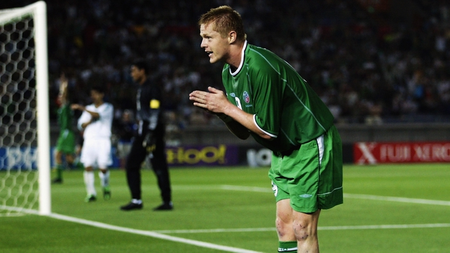 Duff was on target for Ireland in the 2002 World Cup
