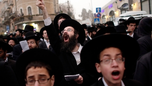 Thousands of Ultra Orthodox Jews demonstrated in Jerusalem against any plans to make them undergo military service