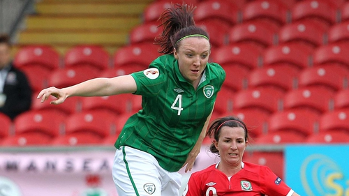 Louise Quinn was on target for the Girls in Green