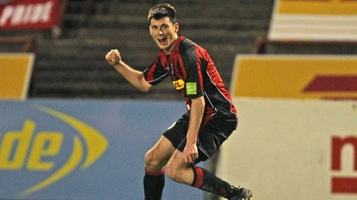 Dinny Corcoran hit a hat-trick for Bohemians