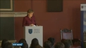 Angela Merkel ends visit to Ireland with visit to Trinity College