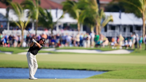Graeme McDowell was one of only three players to shoot under par in the second round