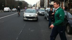 Ireland's Brian O'Driscoll on his way for a training session ahead of Six Nations clash with Italy in the Aviva Stadium