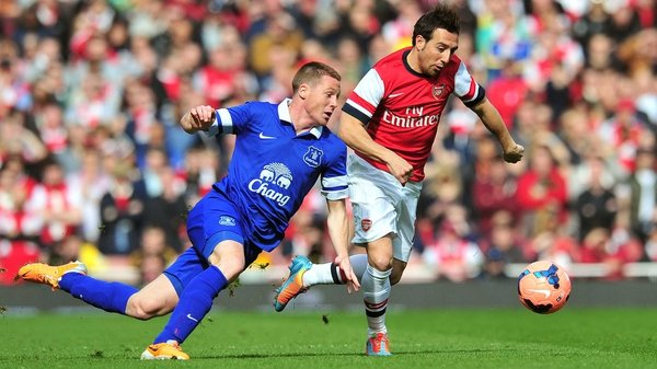 James McCarthy and Everton will be looking to avenge their FA Cup loss to Arsenal