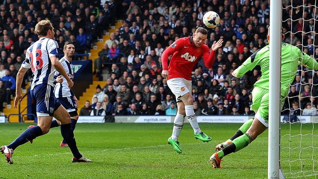 Wayne Rooney headed home United's second