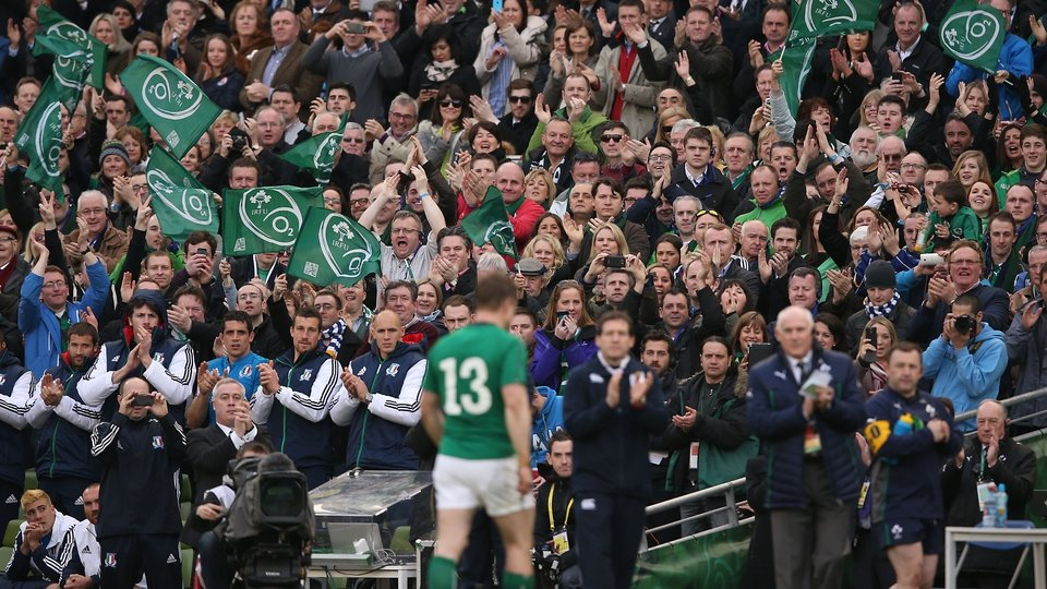 O'Driscoll made a record-breaking 140th international appearance against Italy