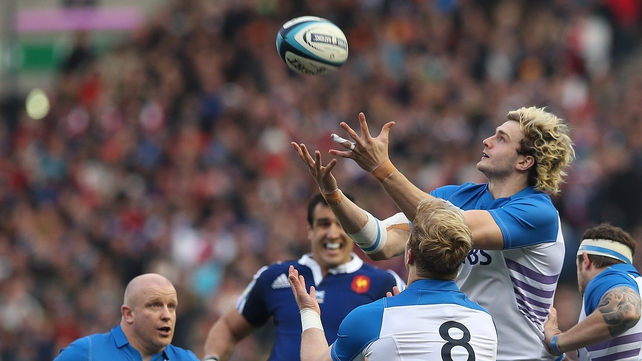 Scotland's Richie Gray in action against France