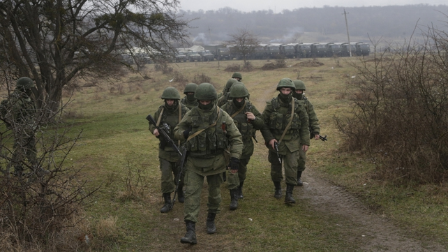 Russian forces have taken over 11 border posts in Crimea