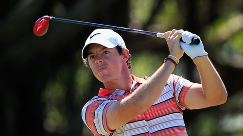Rory McIlroy had two double-bogey sevens on the par fives at eight and 10 in a challenging third round