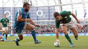Jonathan Sexton bagged a brace of tries in a performance that belied concerns his thumb injury would hamper him