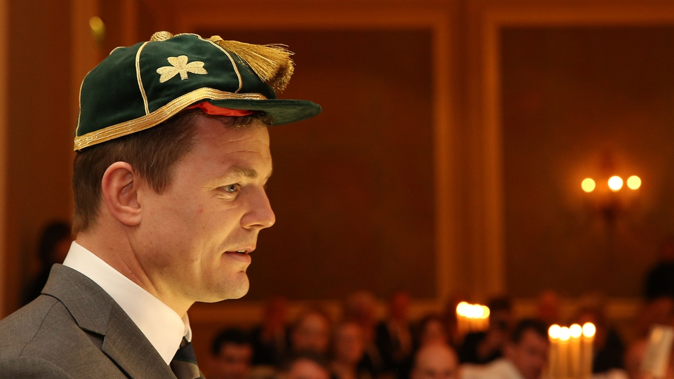 After the match, Brian O'Driscoll was awarded his record 140th international cap