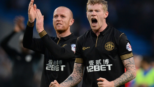 Republic of Ireland international James McClean came on as a sub in the 58th minute