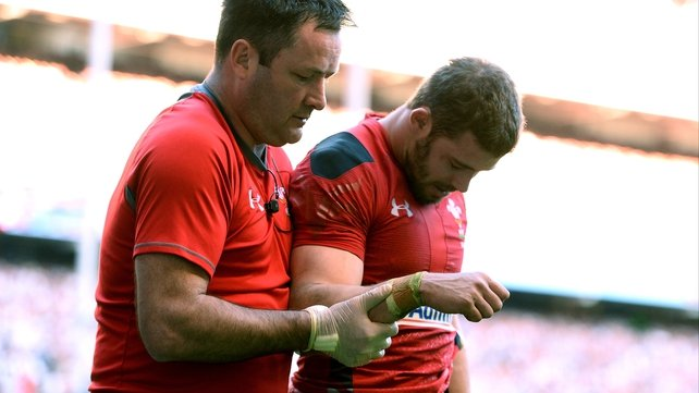 Leigh Halfpenny dislocated shoulder against England last weekend