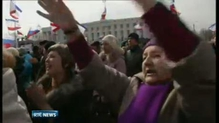 Crowds attend rallies across Ukraine