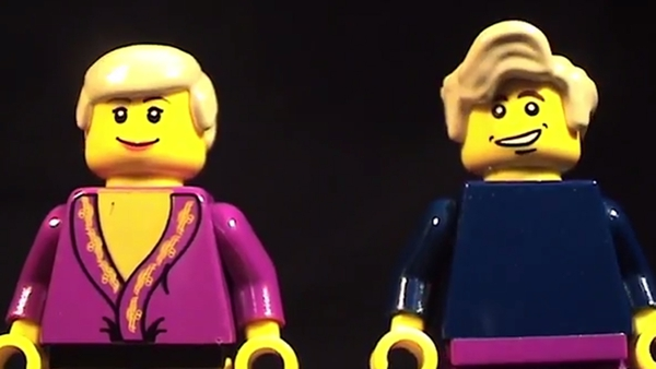 Torvill and Dean transformed into Lego
