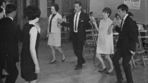 Céilí in the Irish Centre, Camden Town, London, 1968