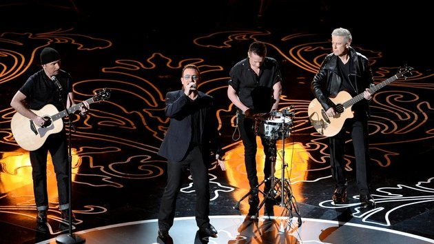 U2 performed at this year's Oscars