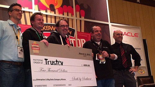 Trustev pictured at the SXSW Accelerator awards in Texas