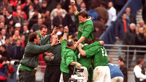 Brian O'Driscoll bagged a hat-trick of tries in Paris in a famous win in 2000
