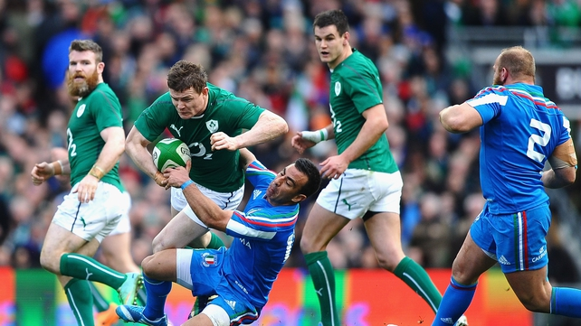 Gordon D'Arcy, Brian O'Driscoll and Johnny Sexton were superb on Saturday