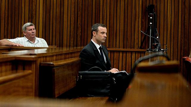Oscar Pistorius denies the murder of his girlfriend Reeva Steenkamp (Pic: EPA)