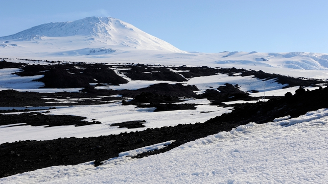 Mount Erebus, which is Antarctica's second tallest volcano