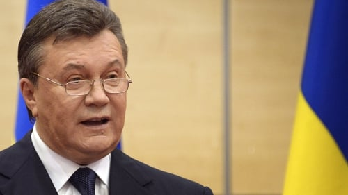 Viktor Yanukovych made a statement to journalists in southern Russia this morning