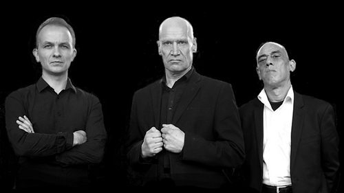 Wilko with Dylan Howe (left) and Norman Watt Roy (right) set to hit Dublin in May