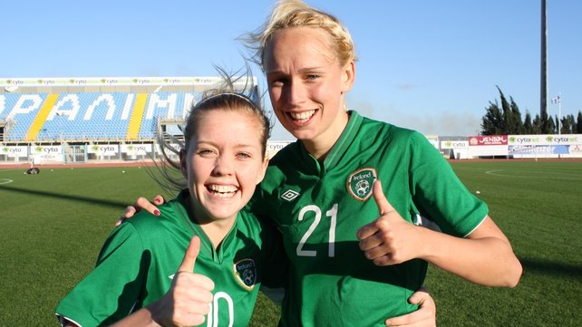 Denise O'Sullivan (L) and Stephanie Roche
