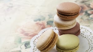 Neven Maguire's Vanilla Macaroons with Chocolate and Peanut Butter Cream