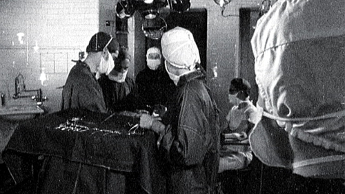 The surgical procedure to break the pelvis during childbirth was performed between 1944 and 1984