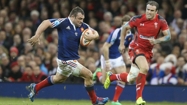 Nicolas Mas of France in action against Wales