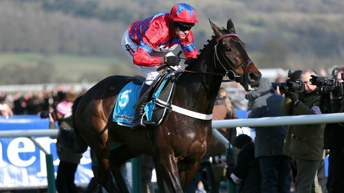 Sprinter Sacre and Barry Geraghty en route to winning the Queen Mother Champion Chase at Cheltenham in 2013