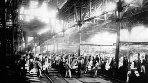 The interior of the Krupp steelworks in Essen, the chief arms supplier of the German Empire