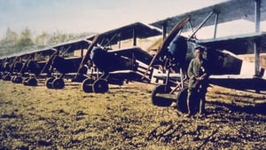A German soldier stands near a row of Fokker DR-1s. The DR-1 was designed by aircraft manufacturer Anthony Fokker, known as the 'Flying Dutchman,' and was the plane used by the famous Red Baron