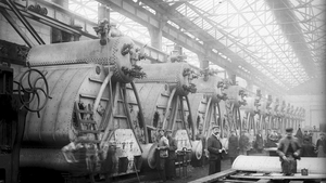 The boiler manufacturing area of Yarrow torpedo factory, Poplar, East London