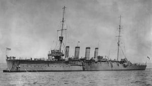 Royal Australian Navy cruiser HMAS Sydney, launched in 1912, and served in WWI, 1913