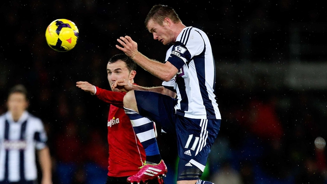 Baggies captain Brunt out with injury