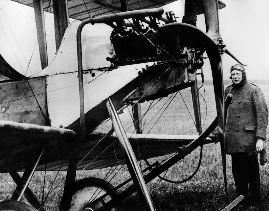 Winston Churchill, then First Lord of the Admiralty, in 1914 before the outbreak of war. Serving in this position, Churchill put strong emphasis on modernisation and was in favour of using planes in combat
