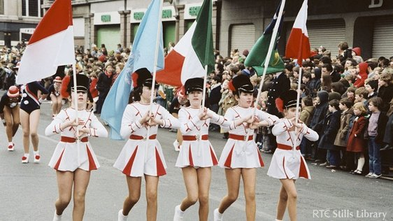 Majorettes at St. Patrick's Day Parade (1981). But who are they?